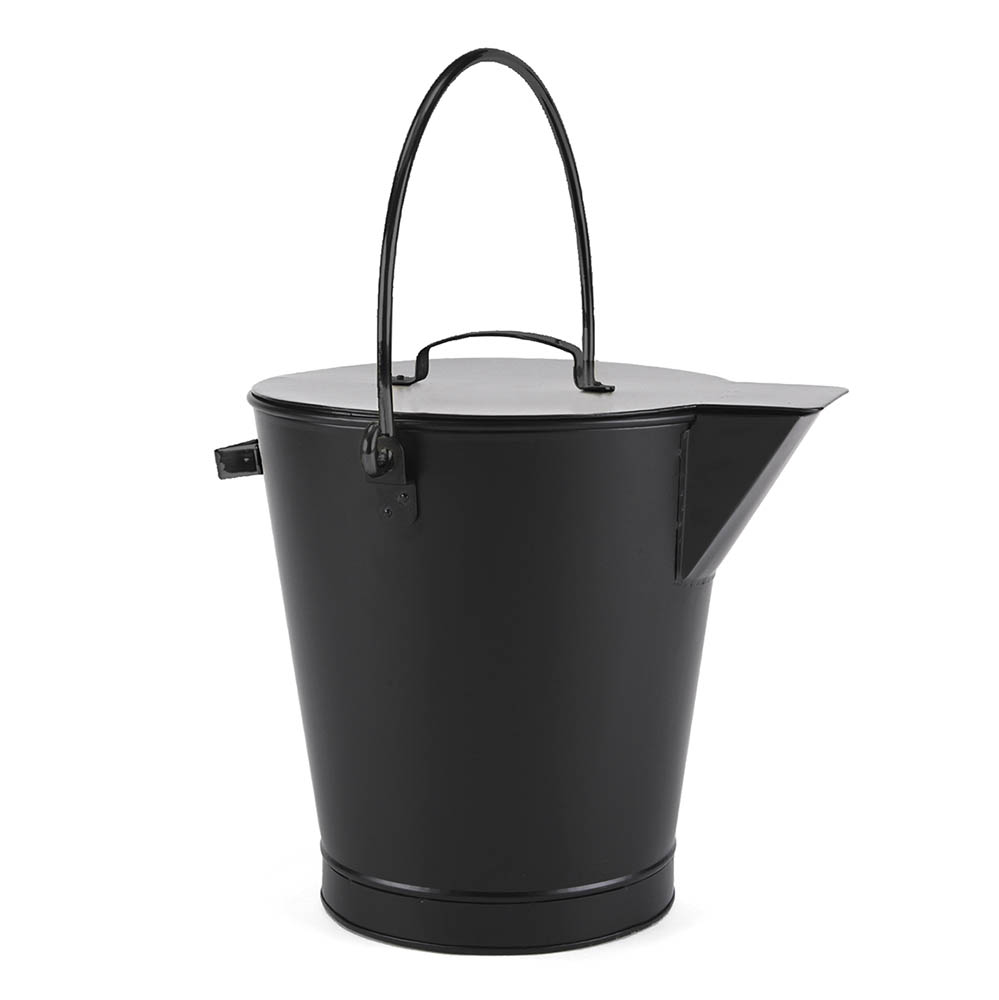 ash bucket with tight fitting lid