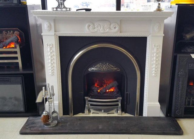 Use the Mackintosh cast iron fireplace surround to refurbish an old fireplace or to create a faux fireplace with a great vintage style