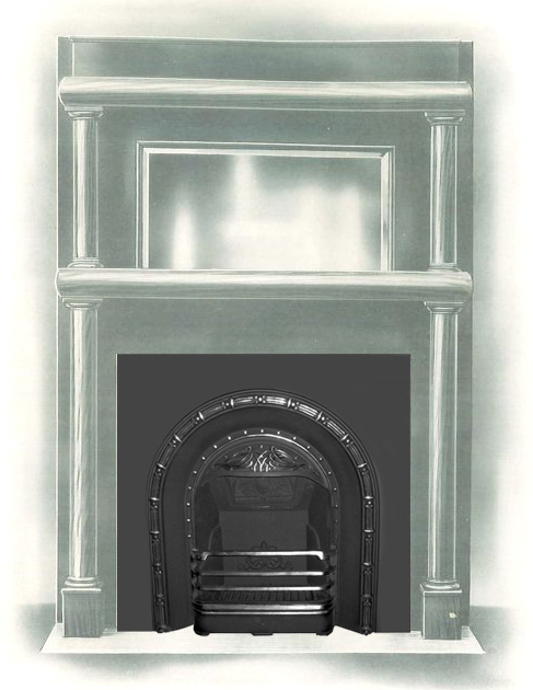 vinter cast iron fireplace surround