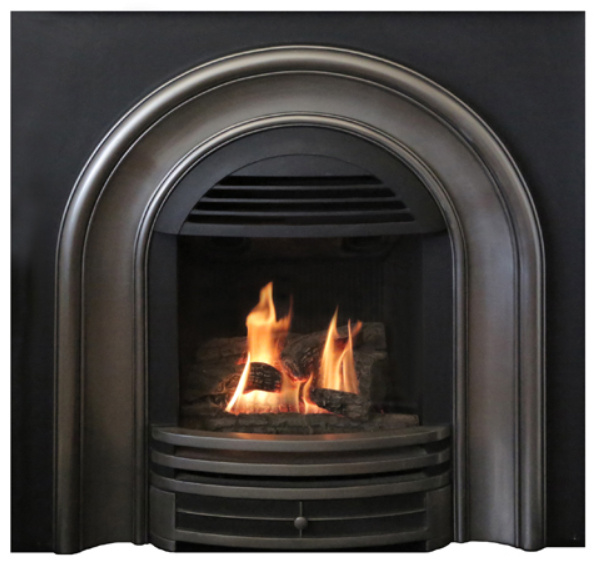 fire log arts chrome fireplace front fires insert coal polished gazco steel inset stainless ti logic cf gas stove from he box
