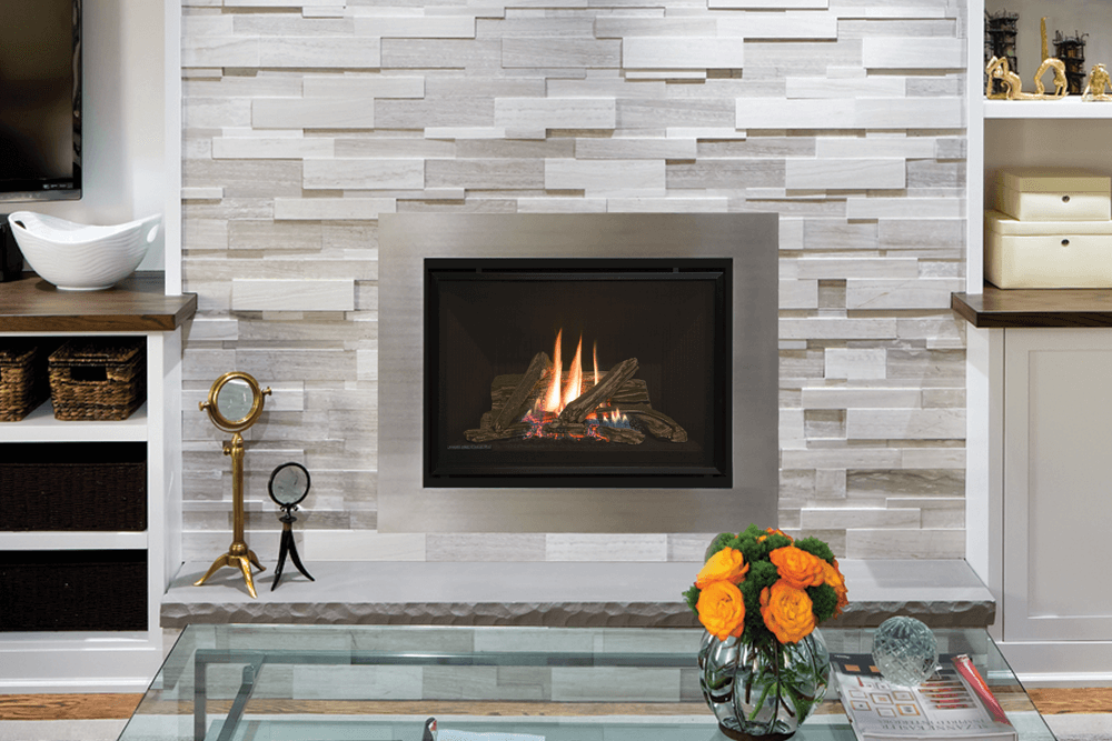 H5 Direct Vent Gas Fireplace-Horizon H5 Direct Vent Gas Fireplace or Insert A full secondary heat exchanger provides high heating efficiency in this gas fireplace designed for new constructionChoice of Traditional Logs