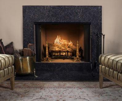Vermillion Brown Granite Fireplace Surround Kit