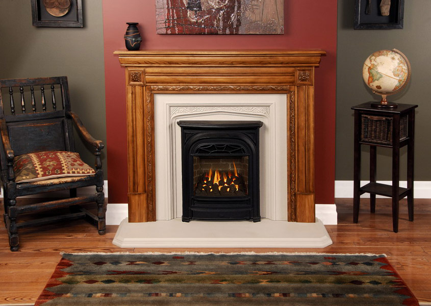 President small gas fireplace