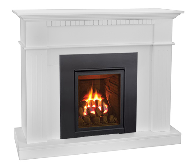 enviro Q1 gas fireplace with coals