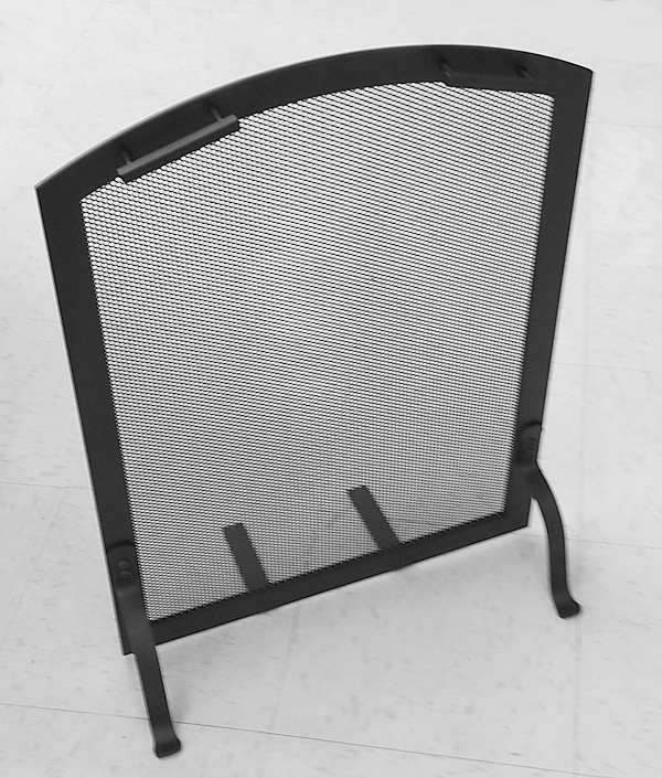 tiny flat arch fireplace screen