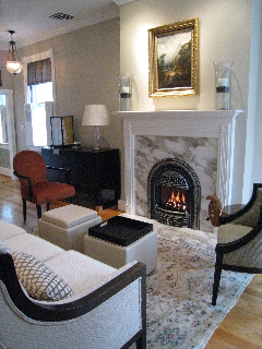 windsor gas fireplace in bedroom