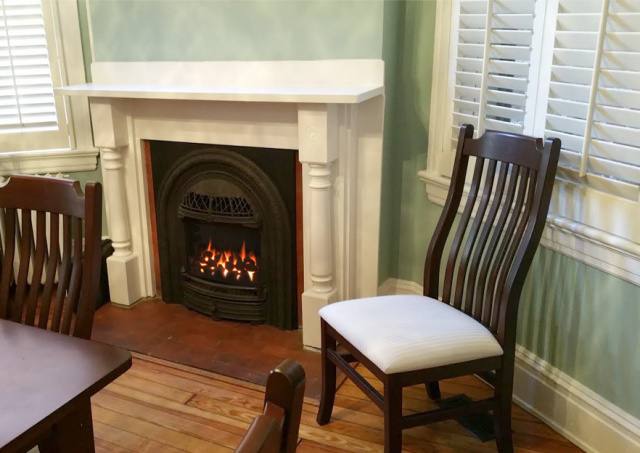 windsor corner fireplace