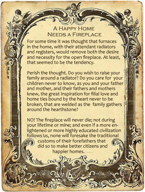 a happy home needs a fireplace