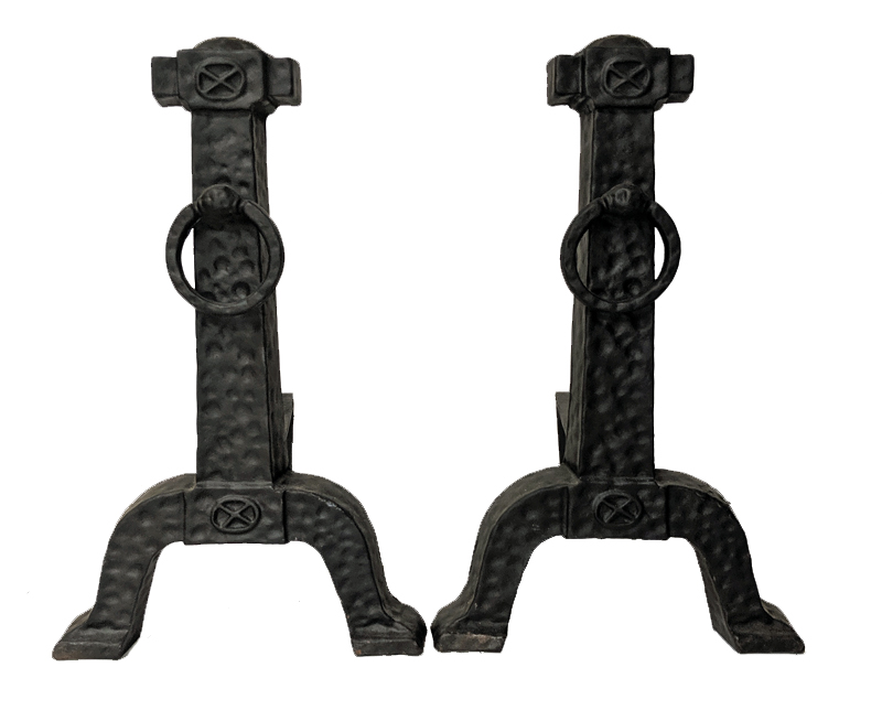 Colonial Cast Iron Vintage Andirons