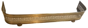 Antique Hearth Fender in Solid Brass