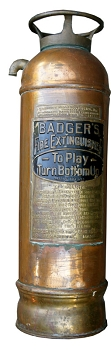 Antique BADGERS Copper Fire Extinguisher