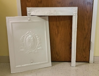 Antique Coal Fireplace Surround & Summer Cover