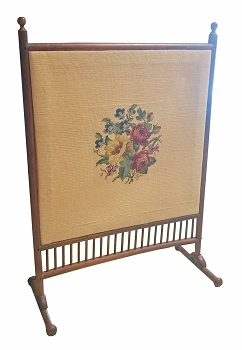 Needlepoint 1930's Fireplace Screen