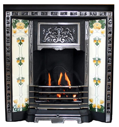 BIRKBECK Cast Iron Fireplace Insert