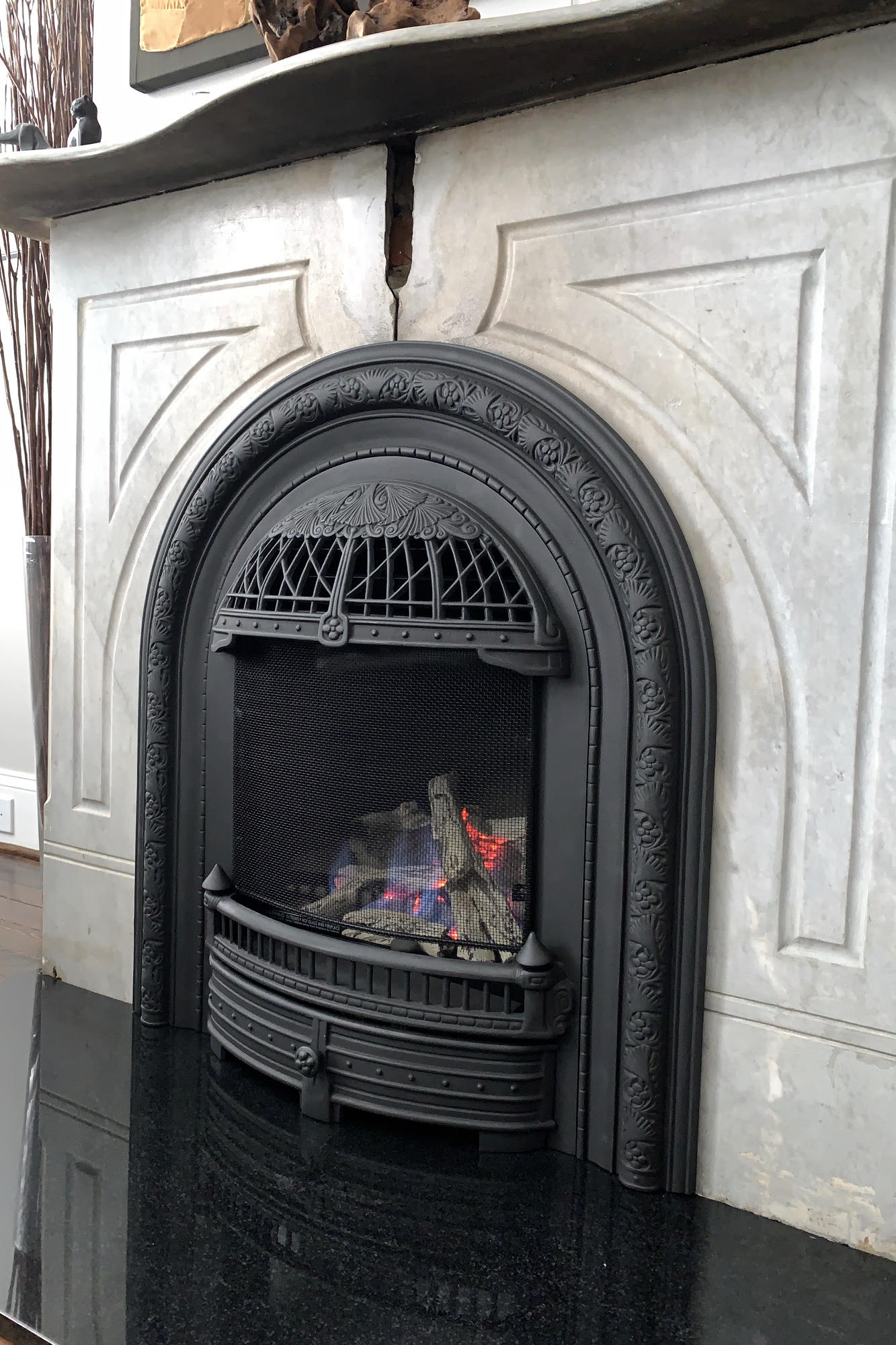 black windsor english fireplace insert