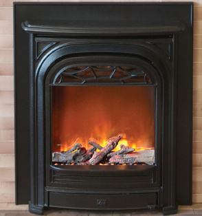 Portrait small electric fireplace