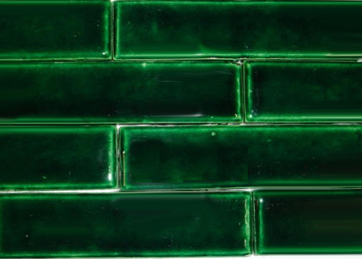 Victorian Fireplace Tiles - Evergreen - Import