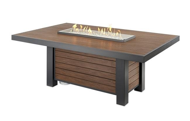 KENWOOD Dining Table with Built In Gas Fire Pit