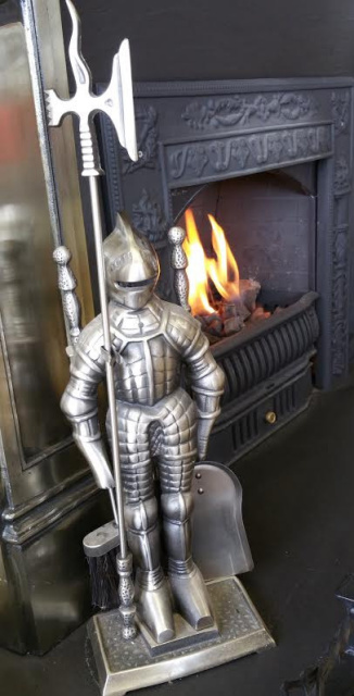 Small Knight Fireplace Tool Set For Your Coal Fireplace