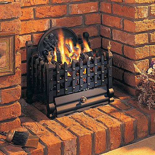 Pub 16 Inch Gas Coal Basket With Fireback