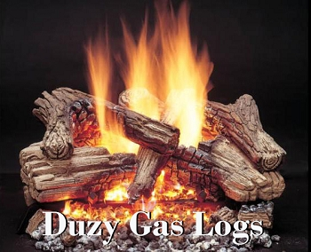 DUZY Vented Logs  FLOOR BURN MODEL AT HALF OFF