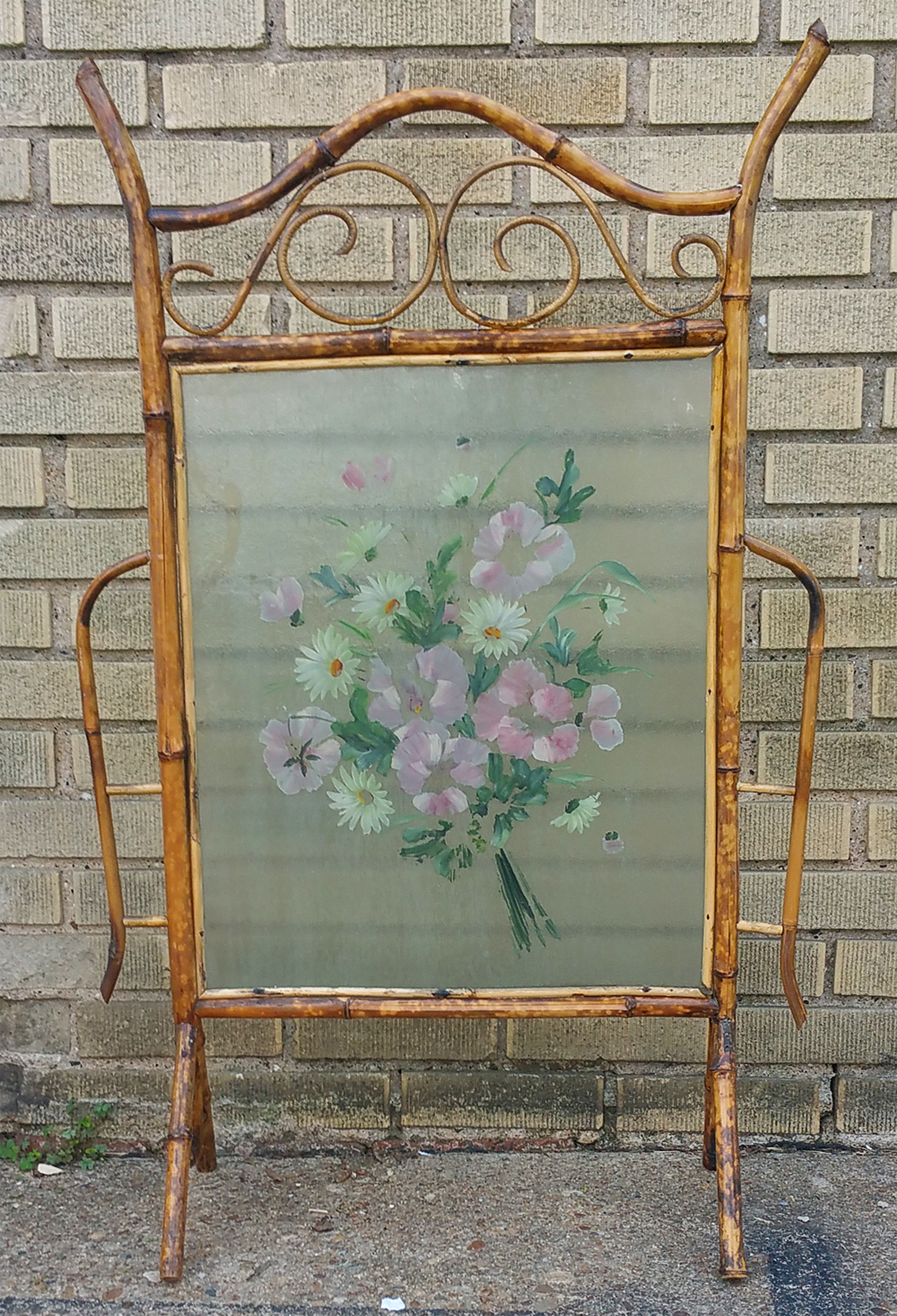 Glass & Bamboo Vintage Summer Screen