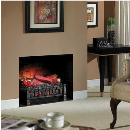 Grate Heater - Electric Logs with Heat. Slide into your fireplace