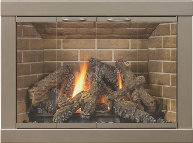 Kingston Glass Fireplace Doors