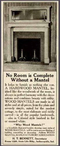 antique mantel ad
