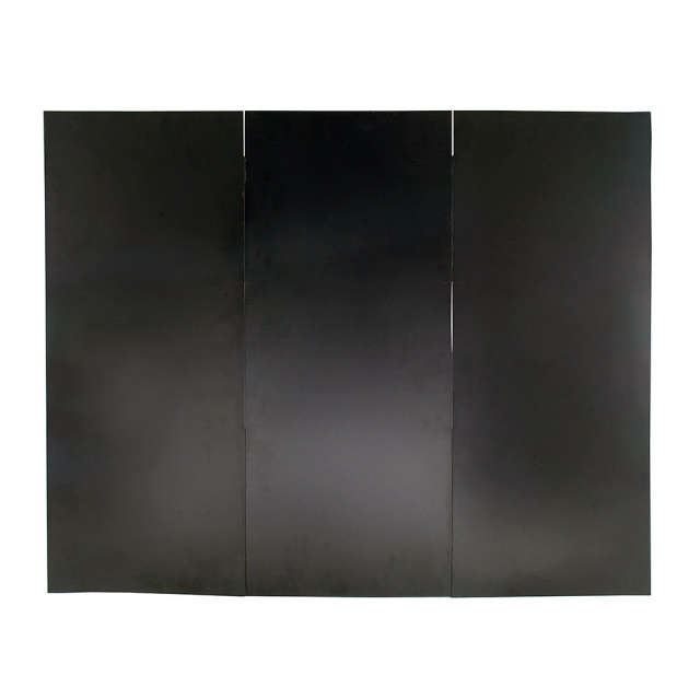 Solid Black Folding Fireplace Cover
