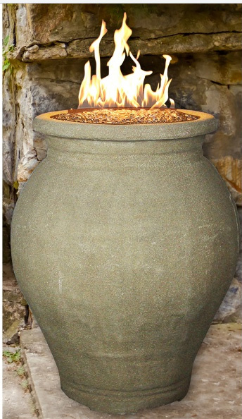 Outdoor Gas Fire Vase