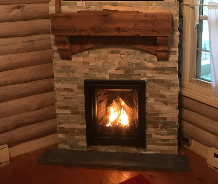 very small gas fireplace q1