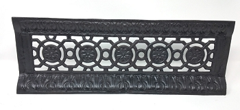 Antique Cast Iron Fireplace Fret or Ash Cover