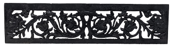 Antique Cast Iron Victorian Fireplace Fret
