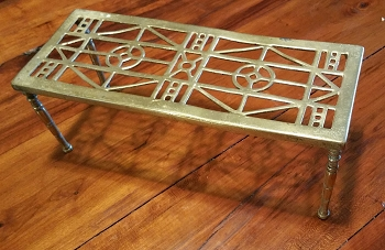 SOLD 1800s Brass Hearth Trivet