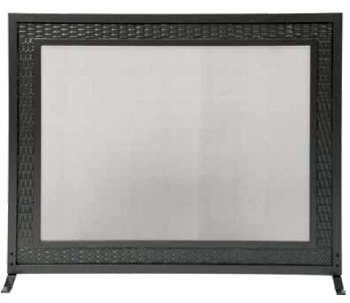 Woven Frame Fireplace Screen