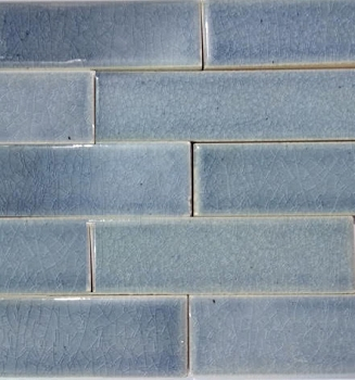 Stormy Blue Fireplace Quarter Tiles - Import
