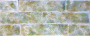 Victorian Fireplace Tile - Trent Mottled Tile - 2 Sizes
