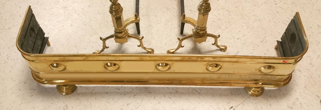 1930s Brass Fireplace Fender