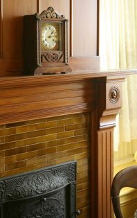 how to install vintage fireplace tiles