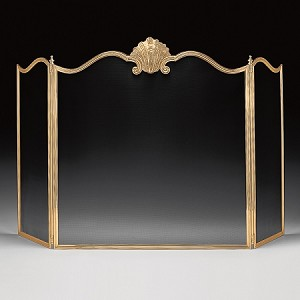GEORGIAN Brass Fireplace Screen