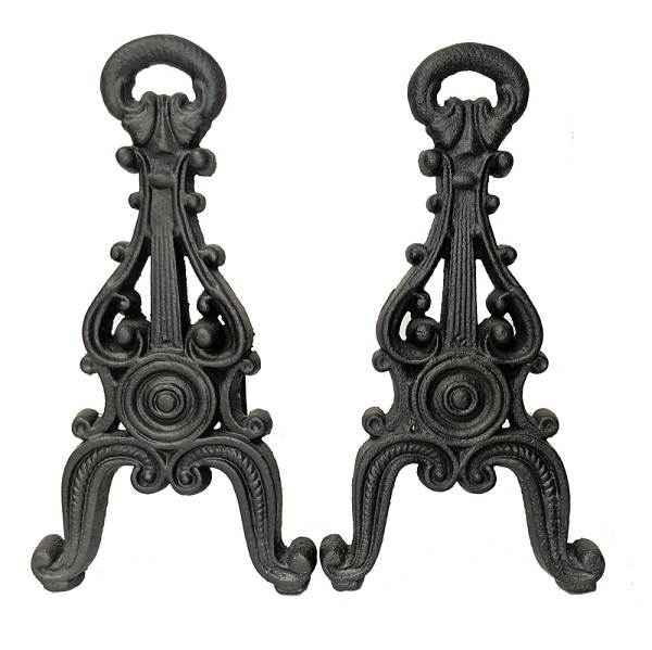 Antique Victorian Cast Iron Andirons