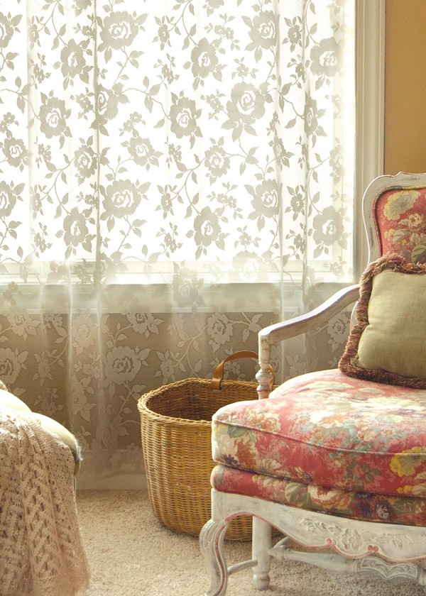 Ashby Rose Lace Curtain
