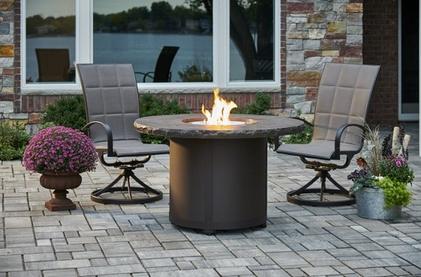 BEACON Dining Table with Built In Gas Fire Pit