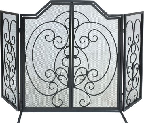 Arch Scroll Screen with Operable Doors