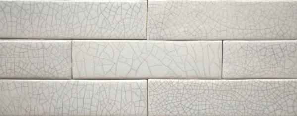 Victorian Fireplace Tiles - Crackled White - 2 Sizes