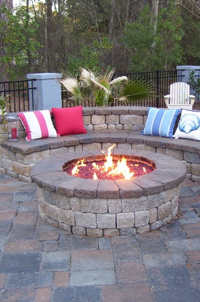 COMPASS Round Fire Pit Enclosure Kits - 2 Sizes